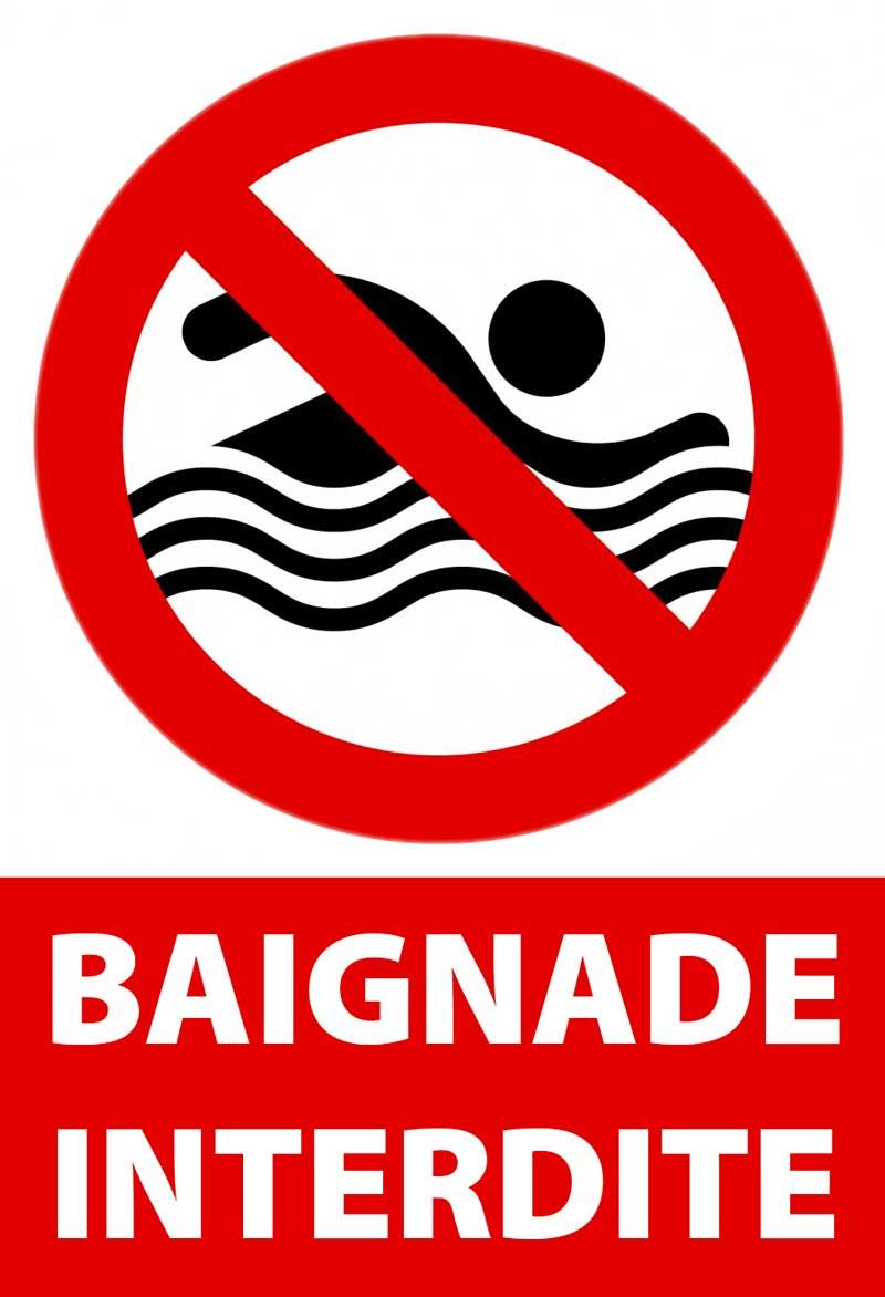 Illustration baignade interdite
