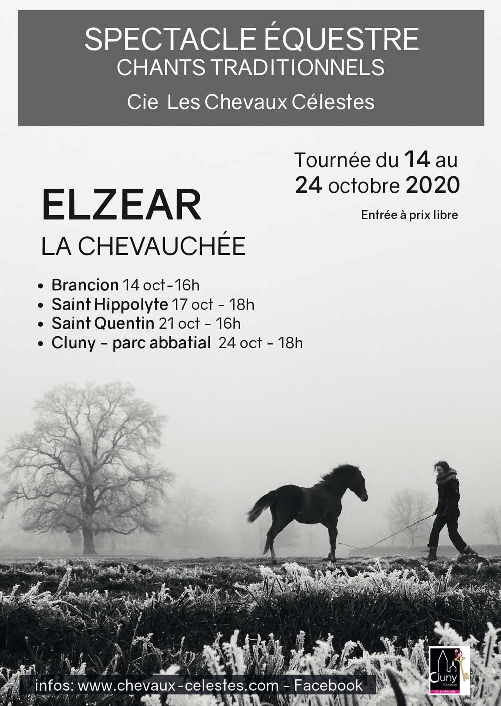 Flyer du spectacle ELZEAR LA CHEVAUCHÉE