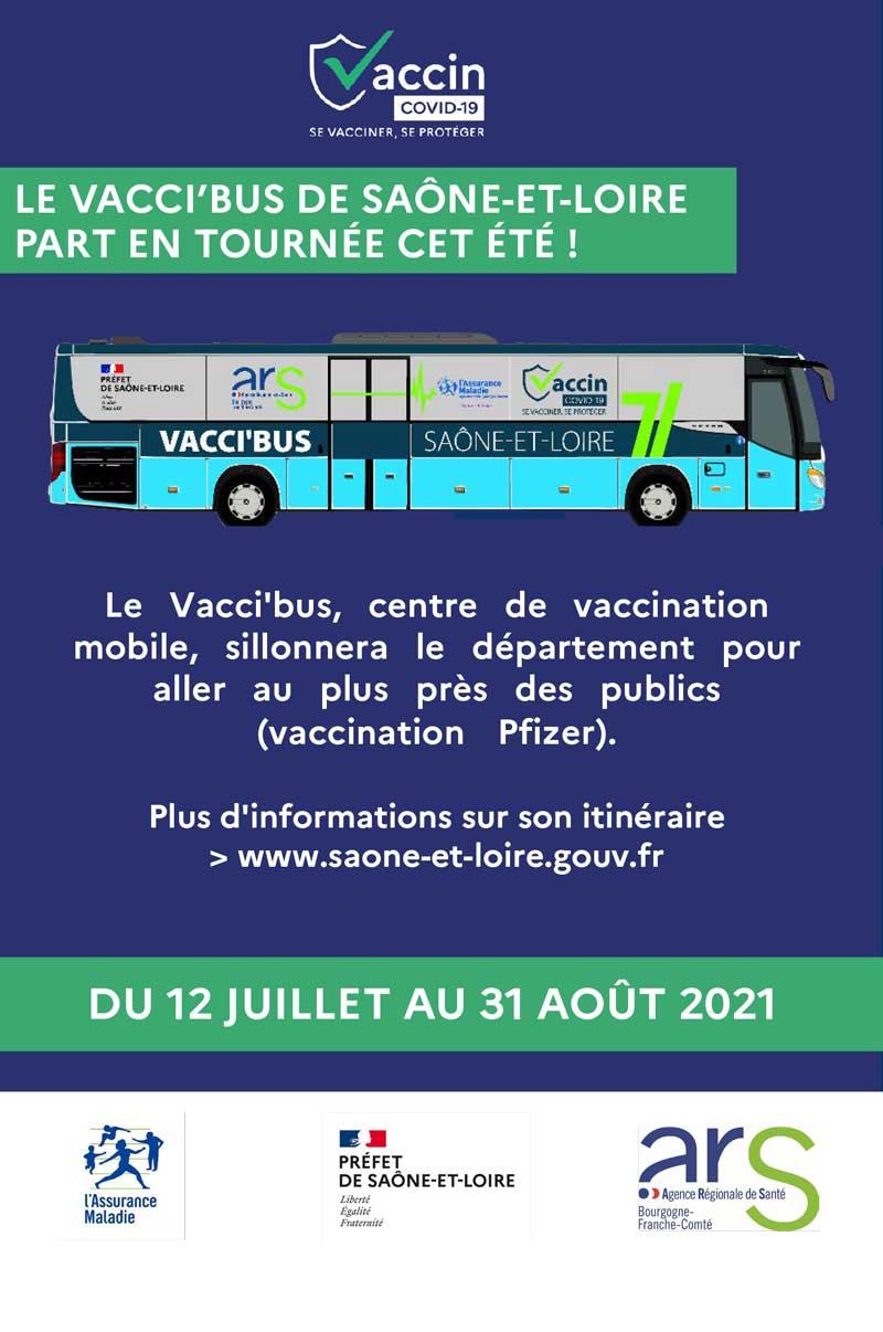 Flyer Vacci'bus de Saône-et-Loire