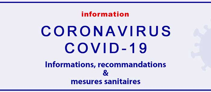 Covid-19 informations, recommandations & mesures sanitaires