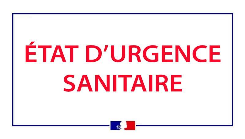 Bannière état d'urgence sanitaire