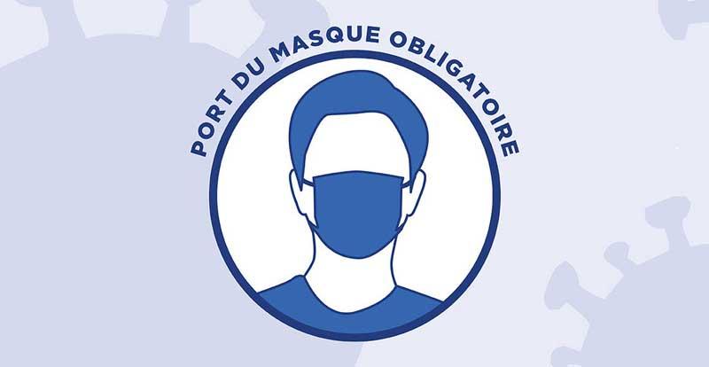 Illustration portant sur l'obligation du port du masque