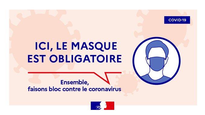 Illustration portant sur l'obligation de porter un masque dans les lieux publics