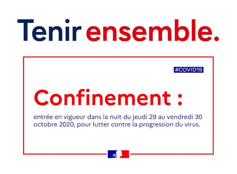 Bannière reconfinement octobre 2020