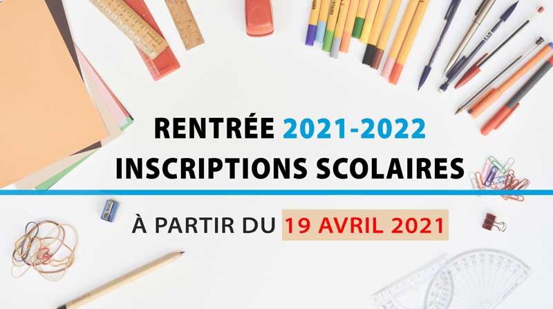 Illustration inscriptions rentrée scolaire 2021-2022
