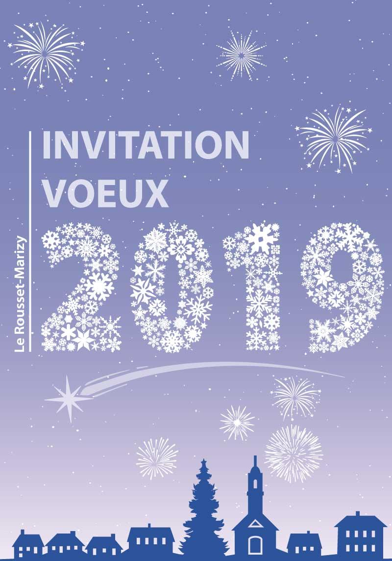 Illustration invitation vœux 2019