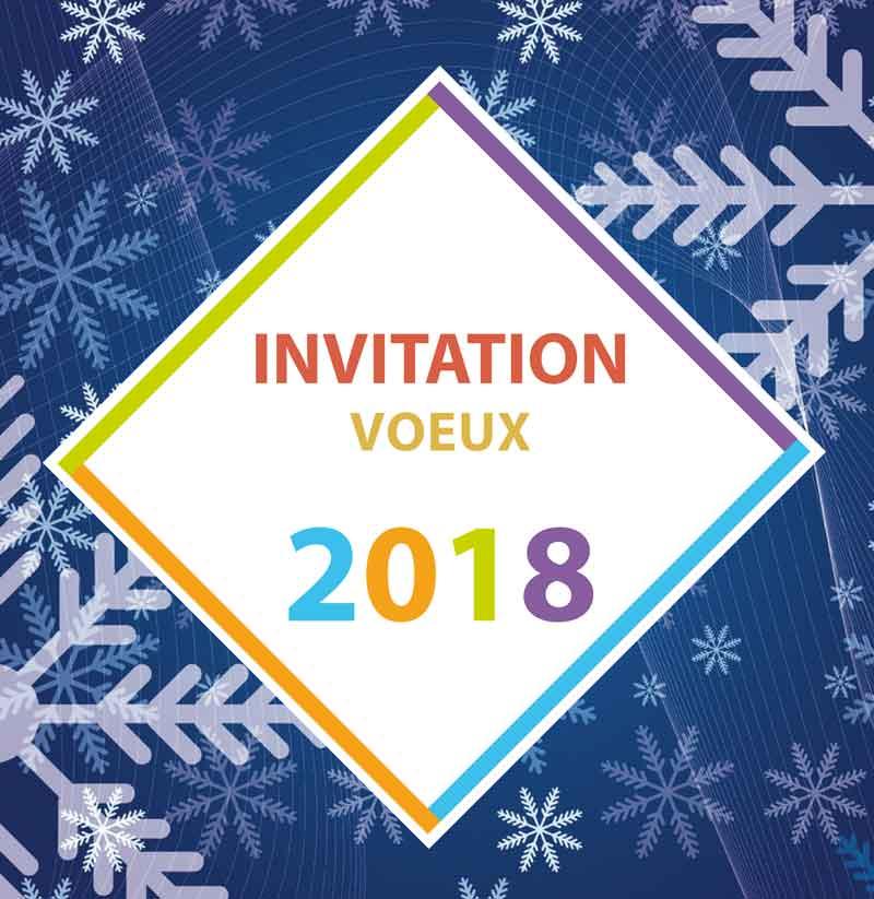 Illustration invitation vœux 2018