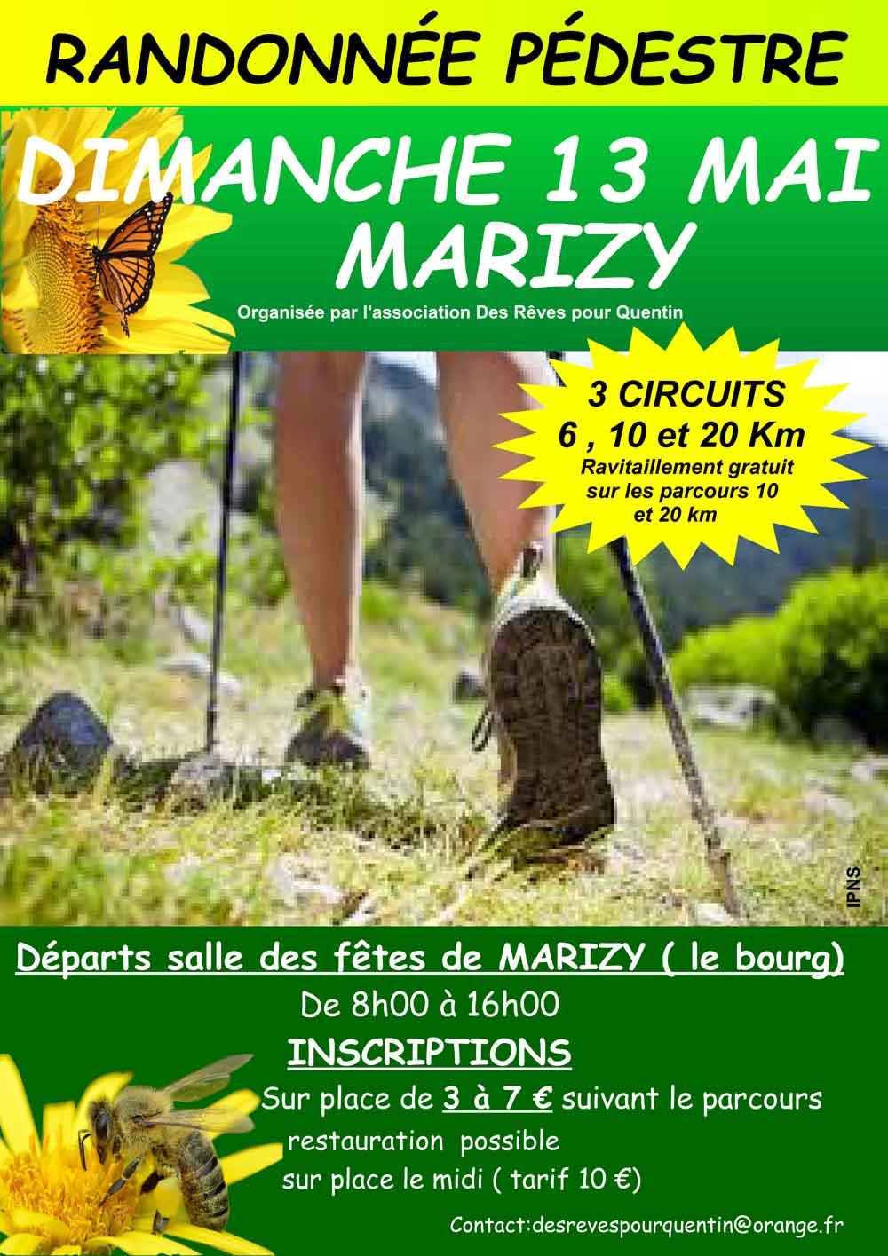 Affiche randonnée pédestre du 13 mai 2018 à Le Rousset-Marizy