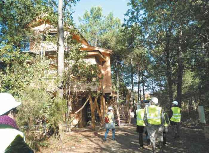 Hébergement en construction, Center Parcs