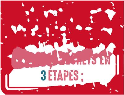 Illustration : Le tri des déchets en 3 étapes :