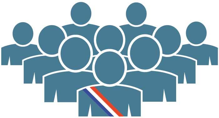 Illustration représentant l'équipe municipal