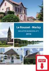Bulletin Municipale Le Rousset-Marizy 2016