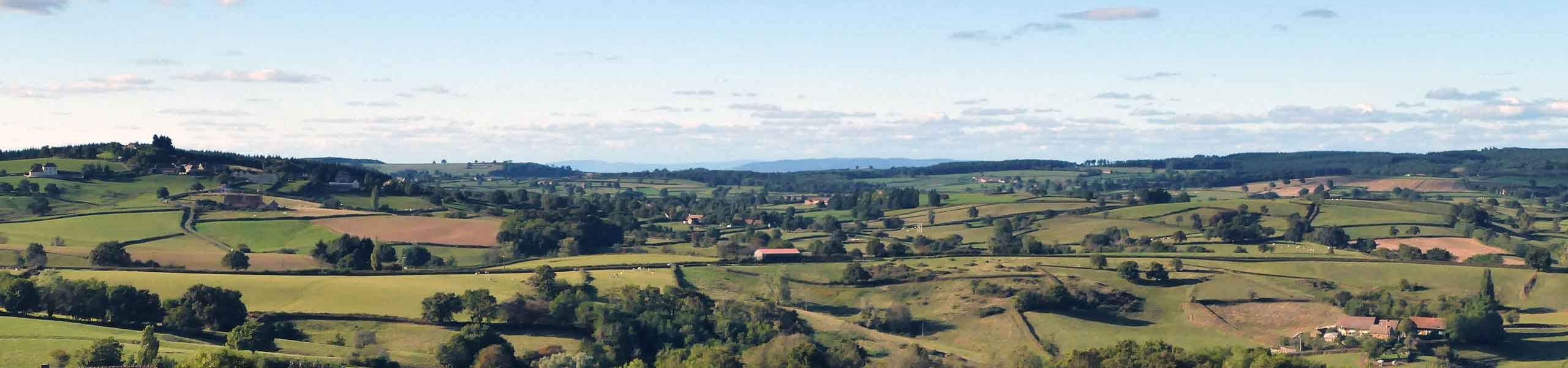 Vue sur Le Rousset depuis Saint-Quentin - Le Rousset-Marizy